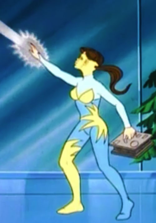Lightwave (Spider-Man Amazing Friends cartoon) (Iceman sister) shooting a beam up