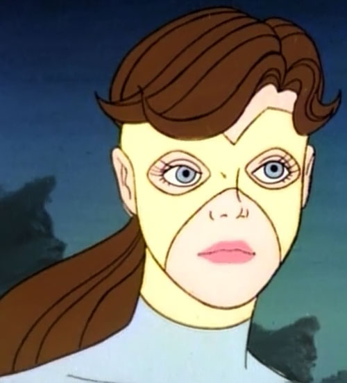 Lightwave (Spider-Man Amazing Friends cartoon) (Iceman sister) face closeup