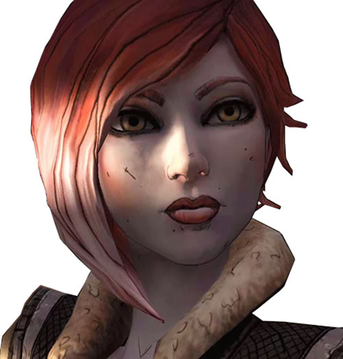 Lilith (Borderlands 1 video game) face closeup
