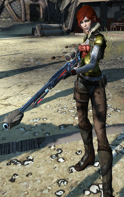 Lilith (Borderlands 1 video game) big sniper rifle