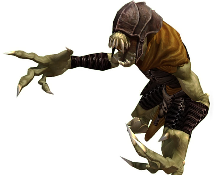 Limos demon - Titan Quest - With cowl - White background