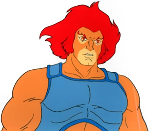 Lion-O of the Thundercats closeup