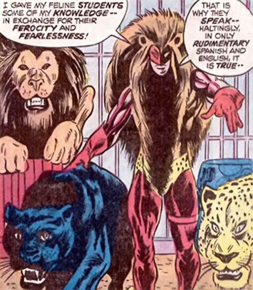 Lionfang (Luke Cage enemy) (Marvel Comics) with his big cats