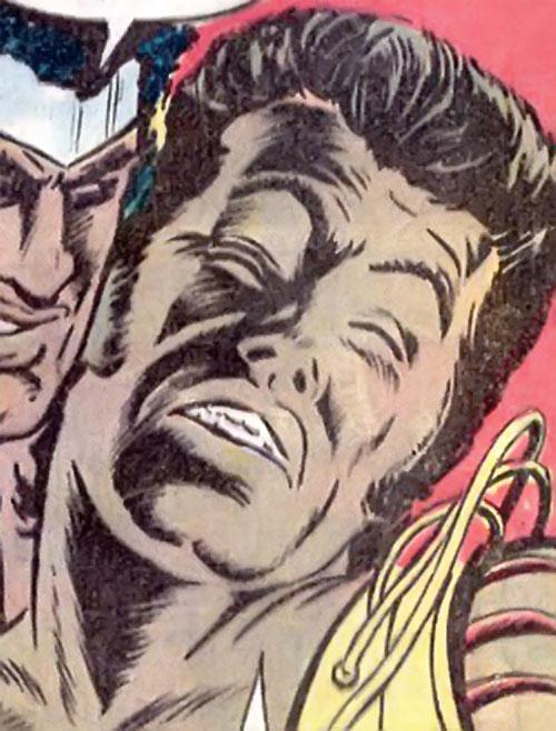 Lionfang (Luke Cage enemy) (Marvel Comics) face closeup