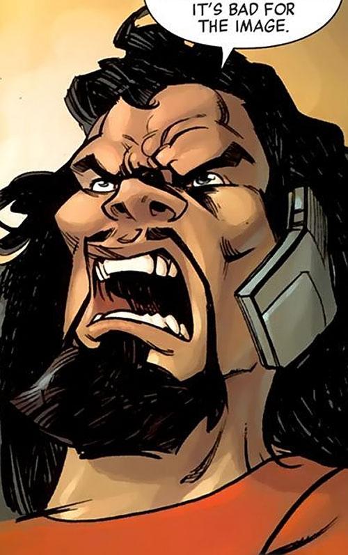 Lionfang (Luke Cage enemy) (Marvel Comics) modern face closeup