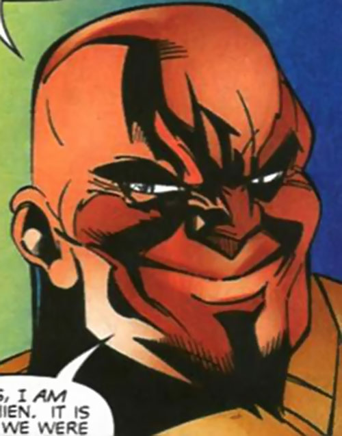 Lionmane (Heroes for Hire enemy) (Marvel Comics) unmasked face closeup