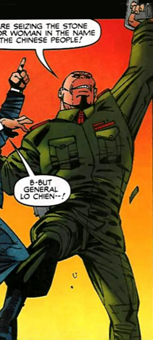 Lionmane (Heroes for Hire enemy) (Marvel Comics) in a PLA uniform