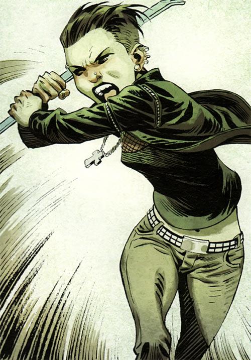 Lisbeth Salander rushing in with a crowbar
