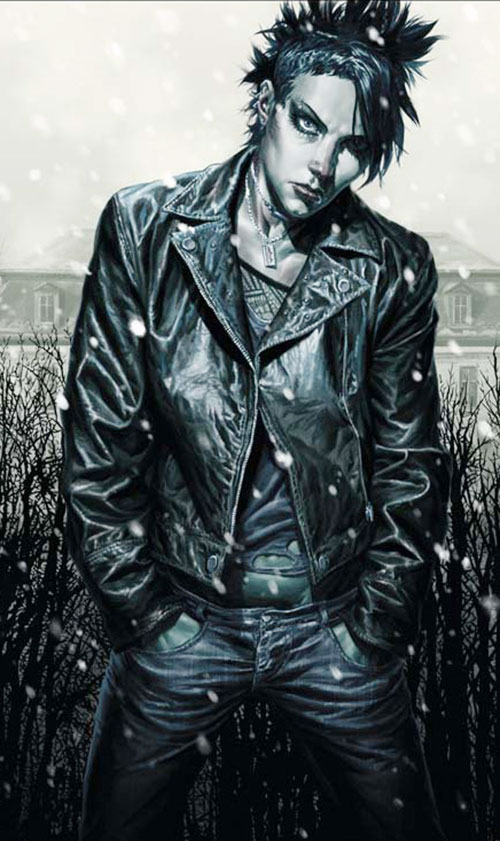 Lisbeth Salander (comic book version) dog tags hands in pocket