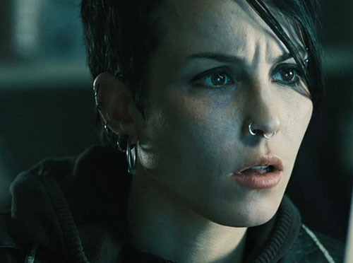 Lisbeth Salander (Movie version) (Noomi Rapace take) reacting
