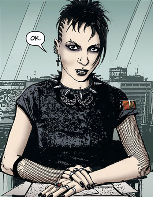 Lisbeth Salander (comic book version) spiked collar