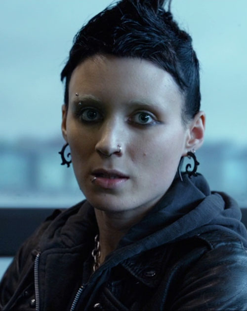 Lisbeth Salander (Movie version) (Rooney Mara take) face closeup