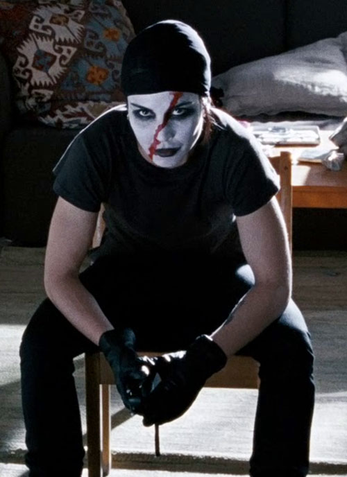 Lisbeth Salander (Movie version) with white and red face paint