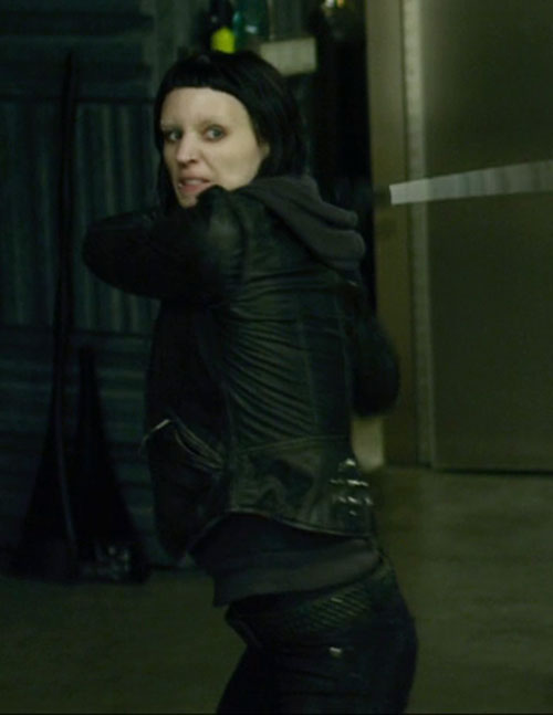 Lisbeth Salander (Movie version) (Rooney Mara take) about to strike