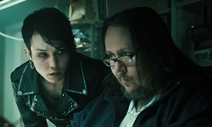 Lisbeth Salander works with a hacker friend