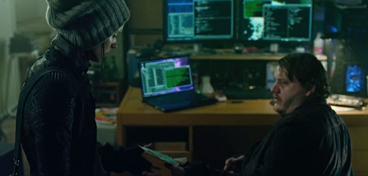 Lisbeth Salander and a hacker friend