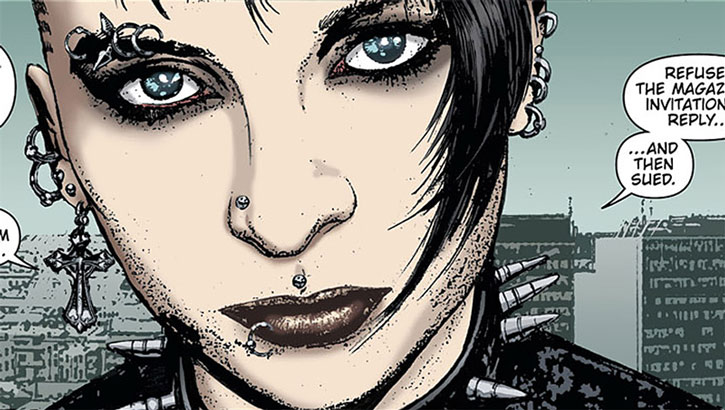 Lisbeth Salander comic book portrait