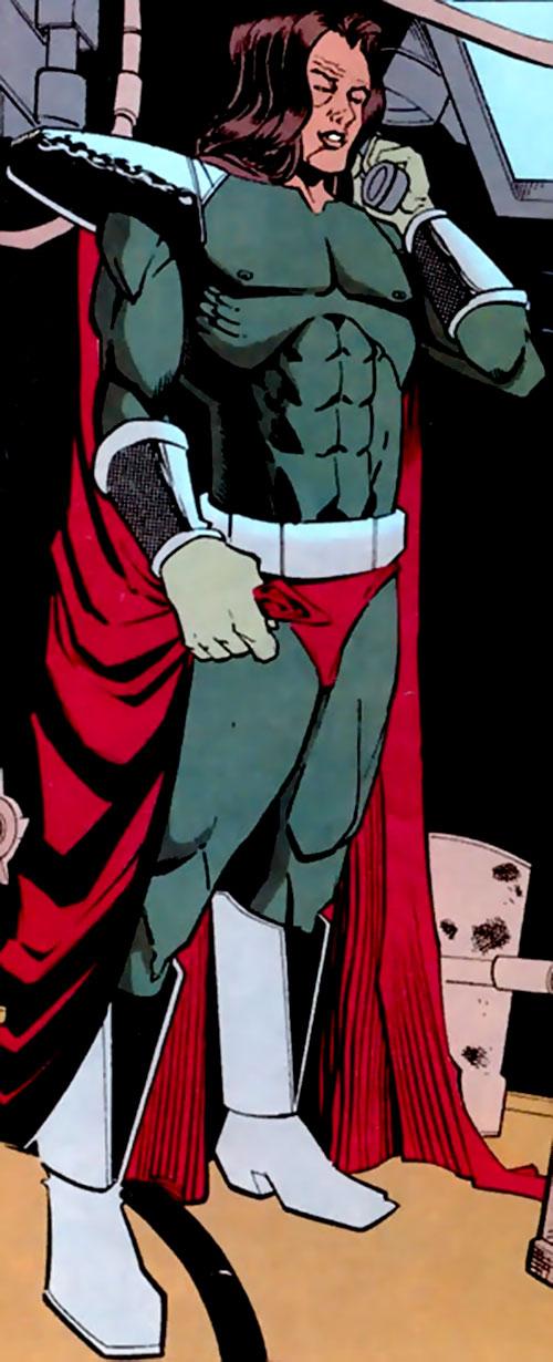 Lizard King (Aztek enemy) (DC Comics) without his helmet