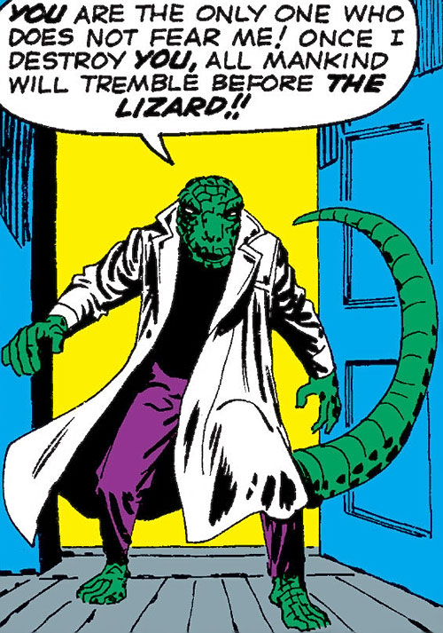 Lizard (Spider-Man enemy) by Steve Ditko