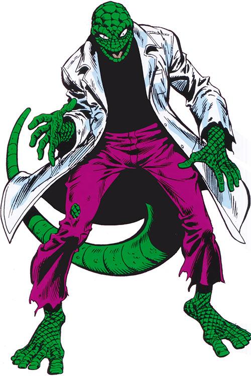 Lizard (Spider-Man enemy) from the 1983 Marvel Comics handbook