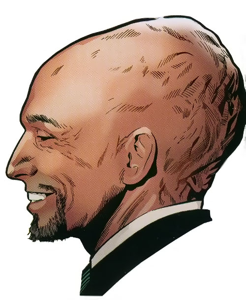 Lobe (X-Men enemy) (Marvel Comics) head closeup side view