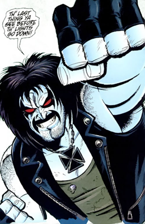 Lobo throwing a punch