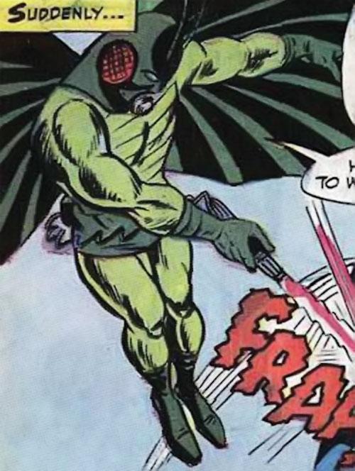 Locust (Marvel Comics) in flight