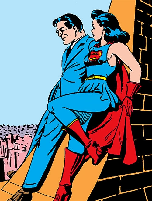 Superwoman (Lois Lane in 1943) (Action Comics 60) Clark Kent talking skyline