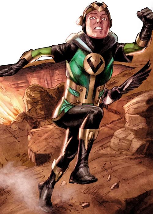 Kid Loki (Marvel Comics Journey into Mystery) running across a desert