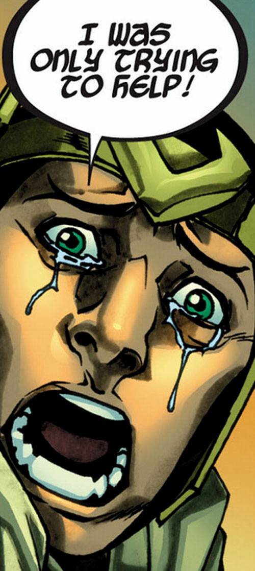 Kid Loki (Marvel Comics Journey into Mystery) crying and yelling face closeup