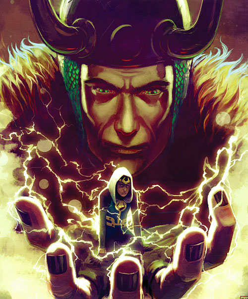 Kid Loki (Marvel Comics Journey into Mystery) in Loki's palm