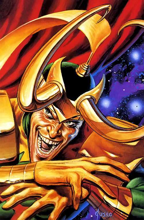 Loki (Thor character) (Marvel Comics) Jusko painting from the masterpieces series