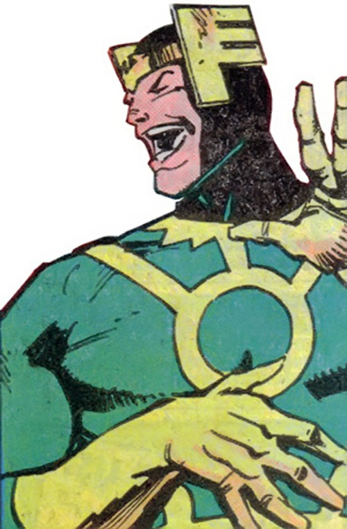 Loki (Thor character) (Marvel Comics) laughing, by Simonson