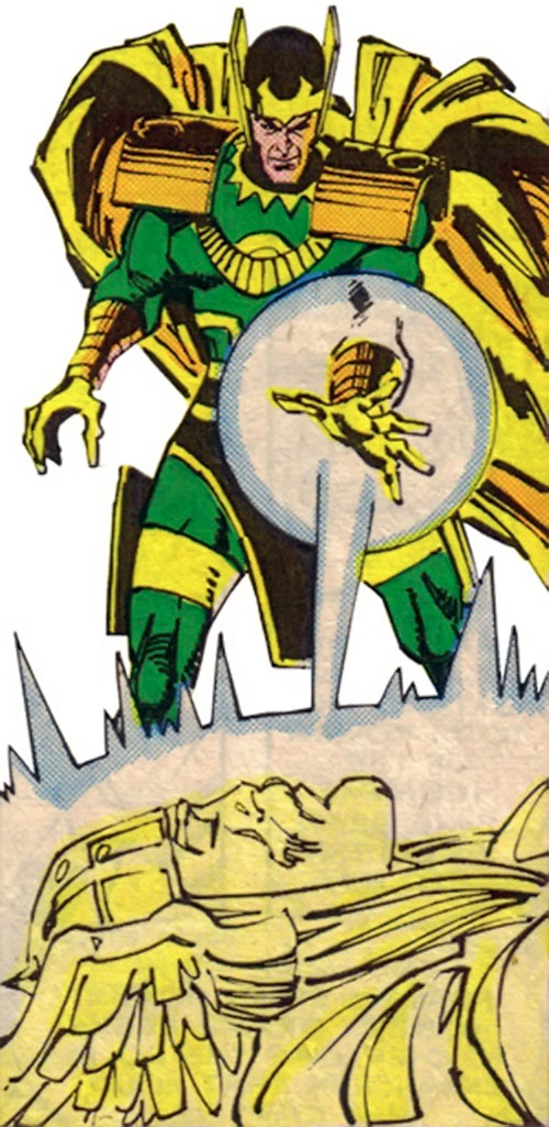 Loki (Thor character) (Marvel Comics) trapping his brother with a spell