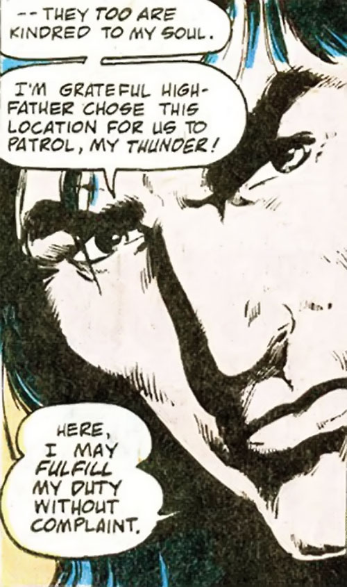 Lonar of Kirby's New Gods (DC Comics 4th world) face closeup