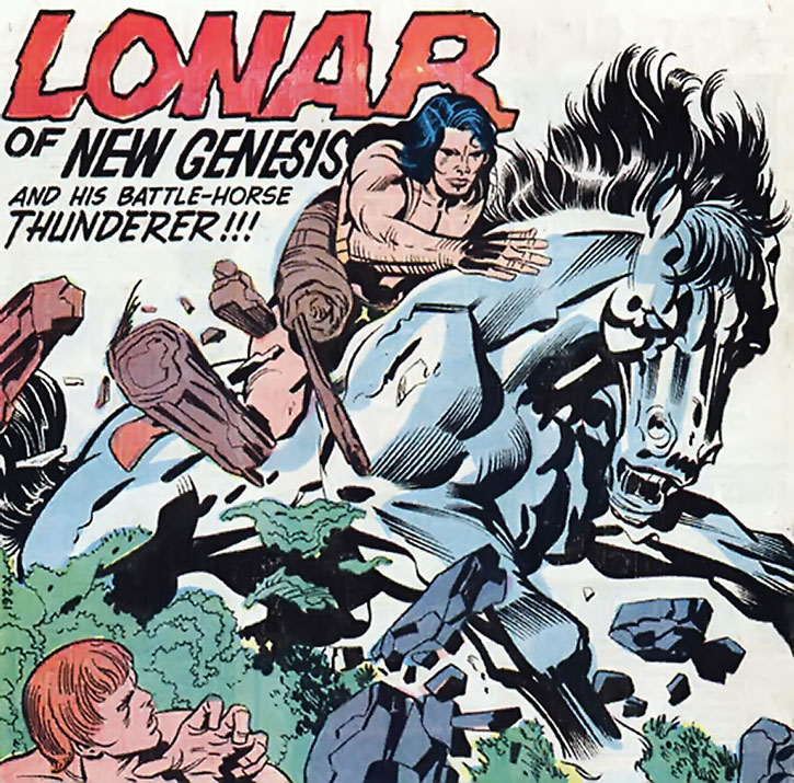 Lonar of New Genesis and his battle horse Thunderer