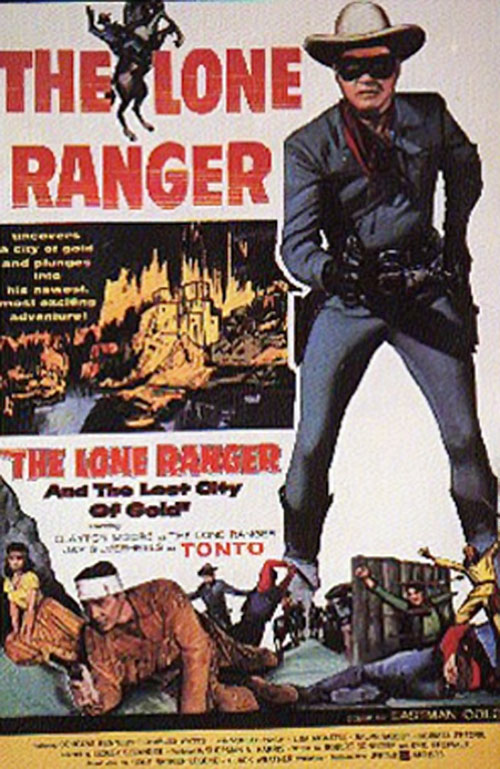Lone Ranger vintage movie poster