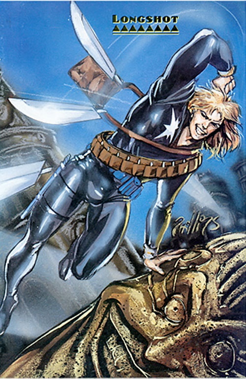 Longshot (Marvel Comics) throwing blades
