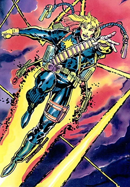 Longshot (Marvel Comics) with a jetpack