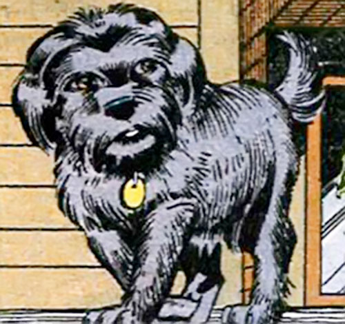 Cute comic book dog