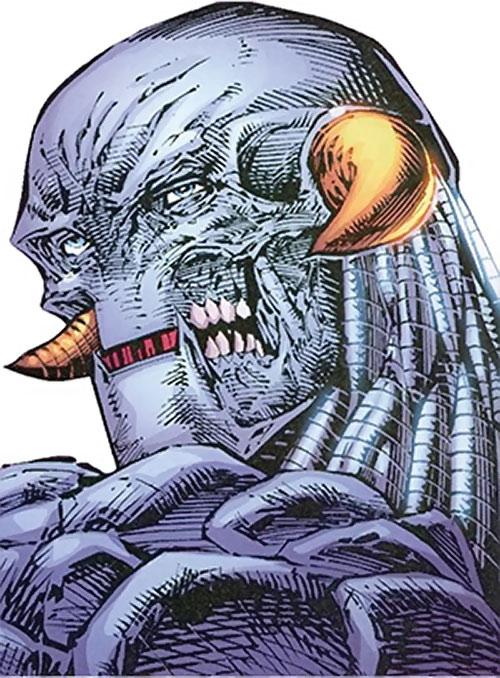 Lord Havok of the Extremists (DC Comics) face closeup