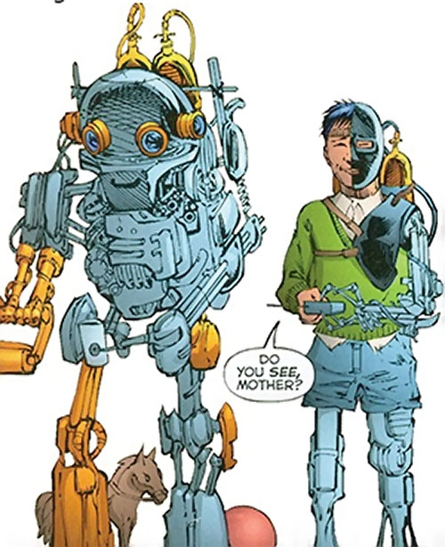 Lord Havok of the Extremists (DC Comics) as a child with his robot