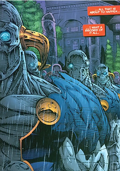 Lord Havok of the Extremists (DC Comics) - army of robots