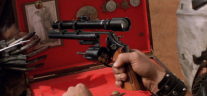 Lord Humungus' scoped magnum revolver