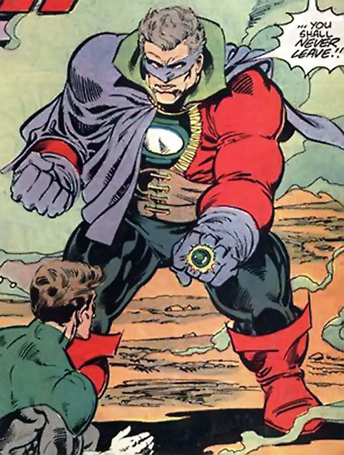 Lord Malvolio (Green Lantern enemy) (DC Comics) facing Hal Jordan