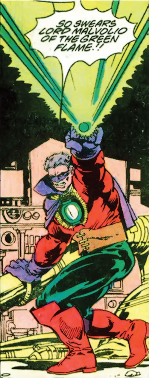 Lord Malvolio (Green Lantern enemy) (DC Comics) blasting