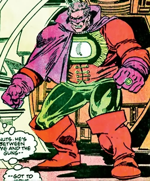 Lord Malvolio (Green Lantern enemy) (DC Comics) about to fight