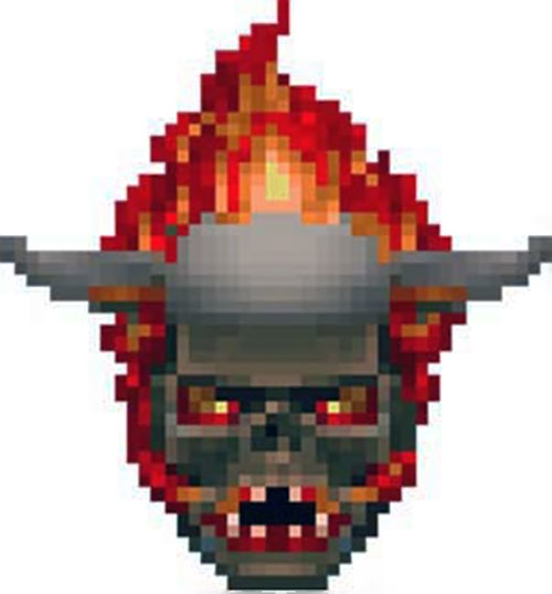 Lost soul Doom video game sprite