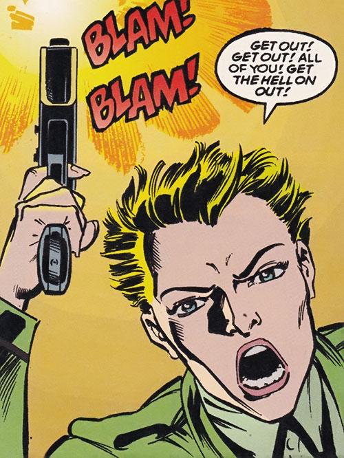 Lieutenant Anderson shooting her pistol