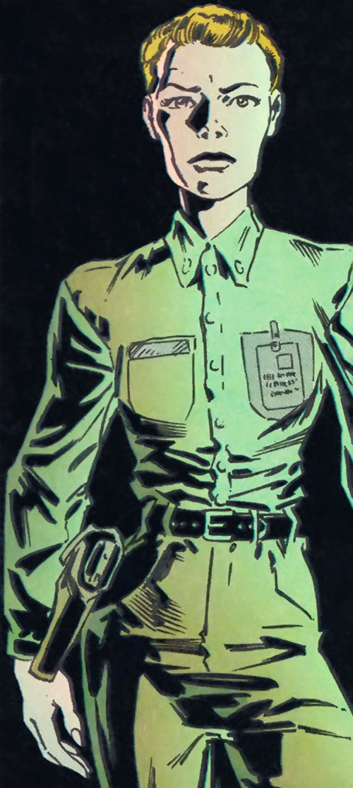Lieutenant Anderson in uniform over a black background